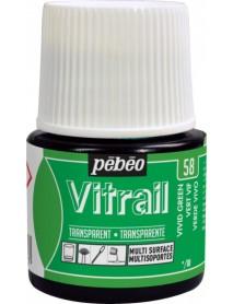 ΣΜΑΛΤΟ ΔΙΑΦΑΝΟ PEBEO VITRAIL 45ml VIVID GREEN