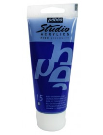 ACRYLIC STUDIO 100ML DARK ULTRAMARINE BLUE