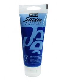 ACRYLIC STUDIO 100ML PHTHALOCYANINE BLUE
