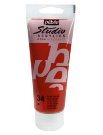 ACRYLIC STUDIO 100ML RED OCHRE