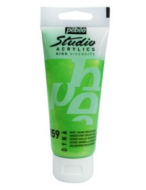 ACRYLIC STUDIO 100ML IRID. GREEN YELLOW