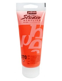 ACRYLIC STUDIO 100ML FLUORESCENT ORANGE
