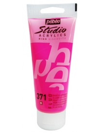 ACRYLIC STUDIO 100ML FLUORESCENT PINK