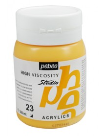 ACRYLIC STUDIO 500ML MEDIUM CADMIUM YELLOW HUE