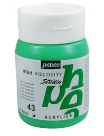ACRYLIC STUDIO 500ML GREEN CADMIUM HUE