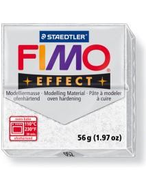 ΠΛΑΚΙΔΙΟ FIMO EFFECT 56GR WHITE GLITTER