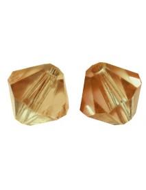 SWAROVSKI BEADS CRYSTAL 4MM, 50TEM COPPER GOLD