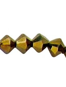 SWAROVSKI 'STAR' BEADS CRYSTAL 4MM, 40TEM COPPER GOLD