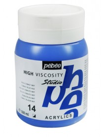 ACRYLIC STUDIO 500ML BLUE COBALT