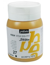 ACRYLIC STUDIO 500ML YELLOW OCHRE