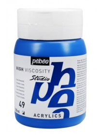 ACRYLIC STUDIO 500ML CYAN PRIMARY