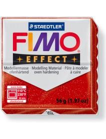 ΠΛΑΚΙΔΙΟ FIMO EFFECT 56GR RED GLITTER