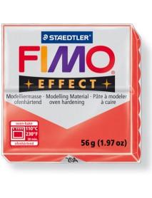 ΠΛΑΚΙΔΙΟ FIMO EFFECT 56GR RED TRANSLUCENT
