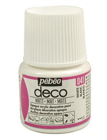 PBO-DECO MAT 45ML WHITE