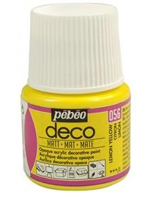 PBO-DECO MAT 45ML LEMON YELLOW