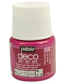 PBO-DECO MAT 45ML VIVID PINK