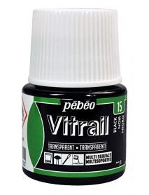 ΣΜΑΛΤΟ ΔΙΑΦΑΝΟ PEBEO VITRAIL 45ml BLACK