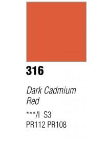 GOUACHE T7 20ML DARK CADMIUM RED