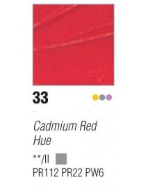 ACRYLIC STUDIO 250ML CADMIUM RED HUE