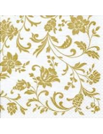 ΧΑΡΤΟΠΕΤΣΕΤΑ 33χ33 Arabesque White gold-white