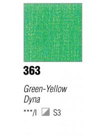 ACRYLIC 37ML EXTRA FINE GREEN-YELLOW DYNA