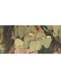 GLITTER 10ML HOLOGRAMME HEARTS 3MM GOLD