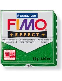 ΠΛΑΚΙΔΙΟ FIMO EFFECT 56GR GREEN GLITTER