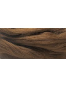 MERION ROVING TUFT, SUPER SMOOTH 50G MEDIUM BROWN