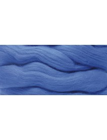 MERION ROVING TUFT, SUPER SMOOTH 50G MEDIUM BLUE