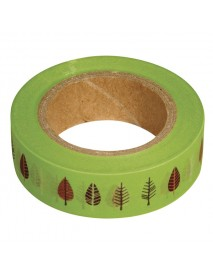WASHI TAPE 15MM 15M LEAVES