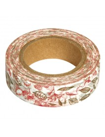 WASHI TAPE 15MM 15M LEAVES N BIRDS