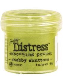 EMB. POWDER DISTRESS SHABBY SHUTTERS