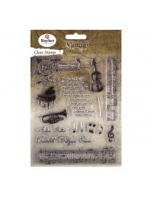 ΣΦΡΑΓΙΔΑ CLEAR STAMPS VINTAGE MUSIC