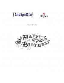 Stamp A6: Happy Birthday, 130x65mm, tab-bag 1pc