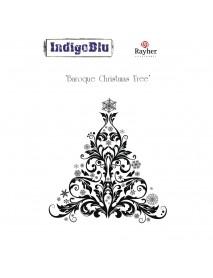 Stamp A6: Baroque Christmas Tree, 110x100mm, tab-bag 1pc