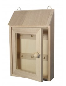 WOODEN KEY BOX WITH GLASS