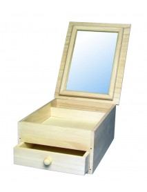 WOODEN BOX WITH MIRROR