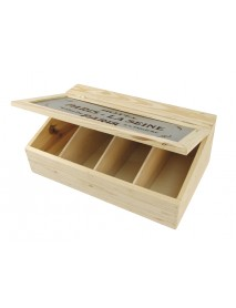 WOODEN BOX WITH FLAP LID+