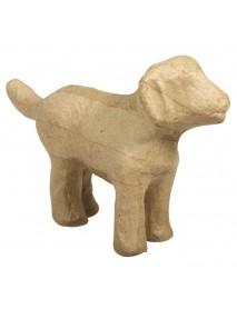 Papier-mache dog, 14,5x4x9cm