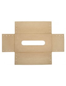 Papier-mache sheath FSC Recycled 100%, 24x12x8cm, for facial tissues