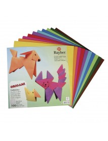 Origami folding papers, FSC Mix Credit, 20x20cm, 80g/m2, 100 sheets