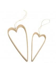 Papier-m. Quilling hanger  Hearts,h:12-16cm,d:1.5-2cm,t-bag 2pcs.