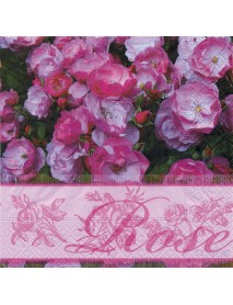 Napkins, 33x33 cm, Package 20 pcs., Rose