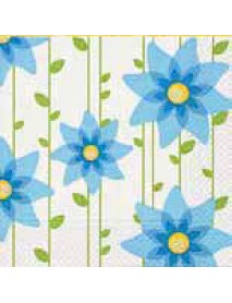 Napkin Simple Blue Flower, 33x33cm, bag 20 pcs.