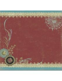 SCRAPBOOKING- ΧΑΡΤΙ :MINI INDIAN RED, 5X30,
