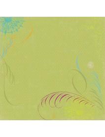 SCRAPBOOKING- ΧΑΡΤΙ :LIME SWIRLS 30,5X30,5CM