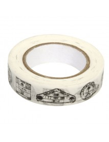 WASHI TAPE 15MM 15M STAMPS
