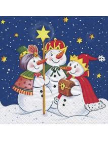 ΧΑΡΤΟΠΕΤΣΕΤΑ 33Χ33 HOLY THREE SNOWMAN