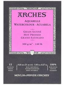 ΜΠΛΟΚ ΑΚΟΥΑΡΕΛΑΣ ARCHES HOT PRES. PAD 300gr 14.8x21cm 12Φ