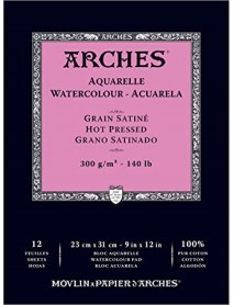 ΜΠΛΟΚ ΑΚΟΥΑΡΕΛΑΣ ARCHES HOT PRES. PAD 300gr 23x31cm 12Φ
